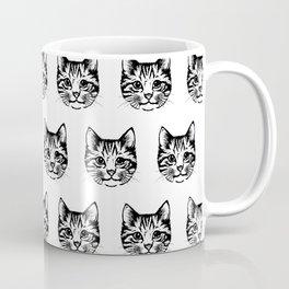 Cat Face Sketch Drawing Kitty Lover Feline Animal  Coffee Mug