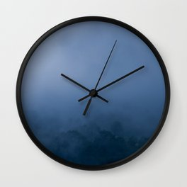 Nature photography. Roncesvalles Fog, Navarra. Spain Wall Clock
