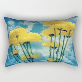 Textured Yellow Carnation Photography Rectangular Pillow
