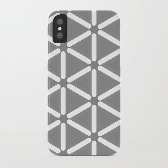 Wildeman Grey Pattern iPhone Case