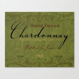 Vintage Wine Label Print (Chardonnay) Canvas Print
