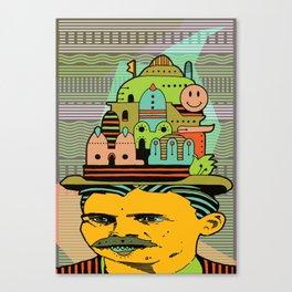 GLAD HATTER 5 Canvas Print