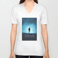 the fault in our stars V-neck T-shirts featuring The Fault In Our Stars by MalenaTotland
