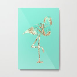 Flamingo Spring Metal Print