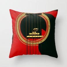 Guitar Sound Hole Throw Pillow