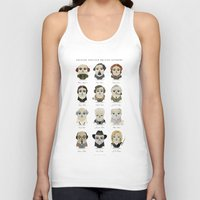 roald dahl Tank Tops featuring Greater-Spotted British Authors by Scott Tyrrell