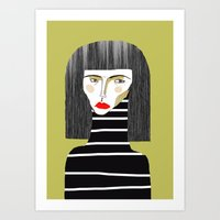 fashion illustration Art Prints featuring Fashion Illustration. by Ashley Percival illustration