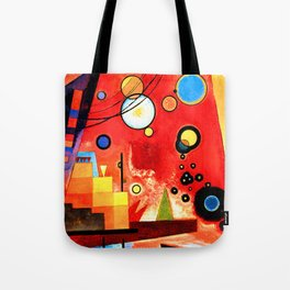 Wassily Kandinsky - Heavy Red - Abstract Art Tote Bag