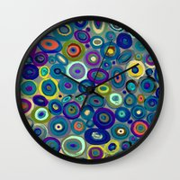 graffiti Wall Clocks featuring graffiti by sylvie demers