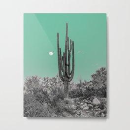 Full Moon Saguaro Metal Print