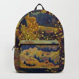Franklin Carmichael Canadian artist Art Nouveau Post-Impressionism October Gold Backpack