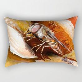 Fly on flower 8 Rectangular Pillow