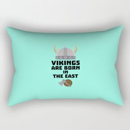 Vikings are born in the East T-Shirt Dxli7 Rectangular Pillow