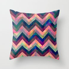 Painted Chevron Throw Pillow