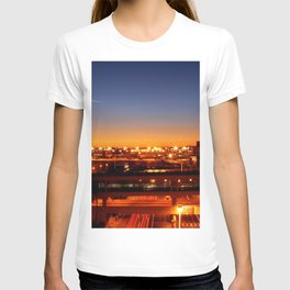 Airport Sunset Time Lapse T-shirt