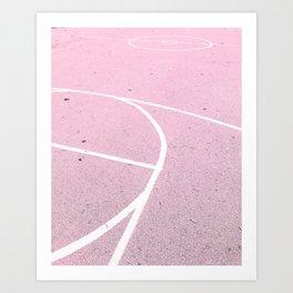 Pink Court, 2017 Art Print