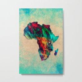 Africa color green Metal Print