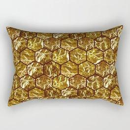 Geometric octagone golden tiles Rectangular Pillow