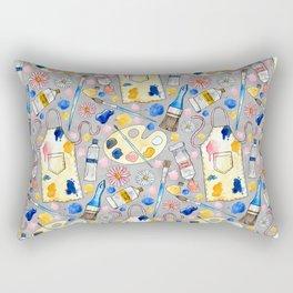 Creative Craft Corner on Grey Rectangular Pillow