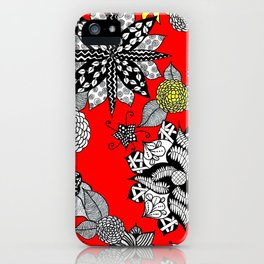 Pattern in Red  iPhone Case