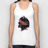 tokyo ghoul Tank Tops featuring GHOUL IS COMING by 666HUGHES