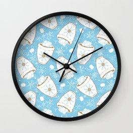 Snowing Marshmallows Wall Clock