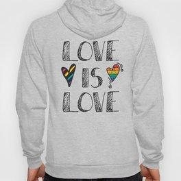Love Is Love Doodles LGBT Hoody