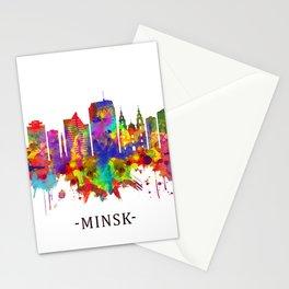 Minsk Belarus Skyline Stationery Cards