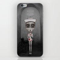 nurse iPhone & iPod Skins featuring Nurse Insane by Rez Designs