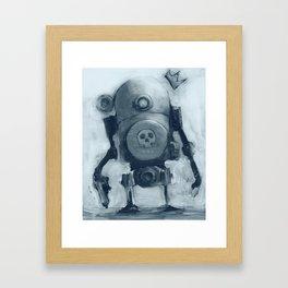 Basquibot - Blue Version Framed Art Print