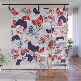Video Game Red White & Blue 3 Wall Mural