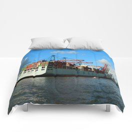 Cosco Cotainer Ship Comforters