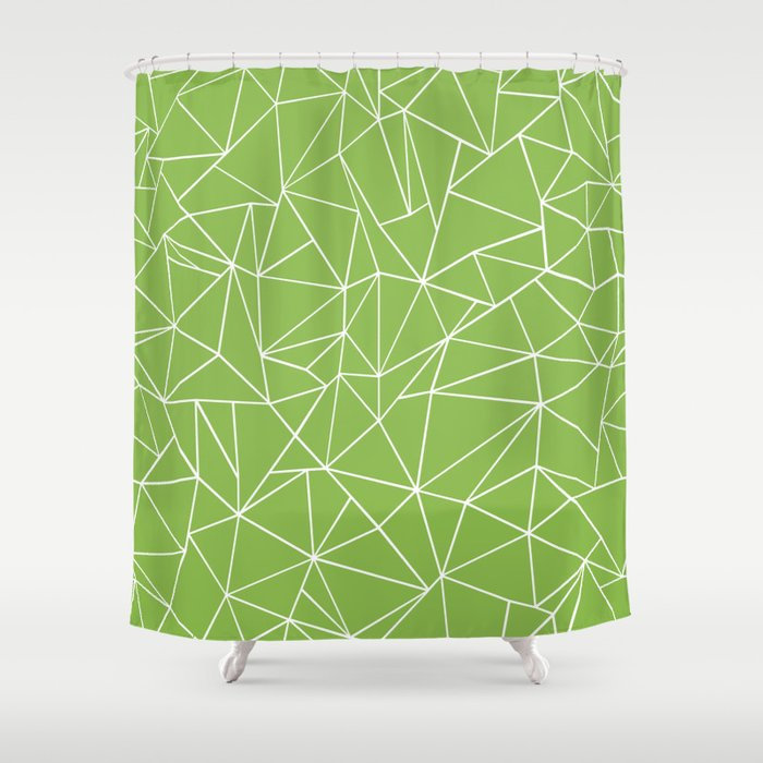 Ab Outline Greeny Shower Curtain