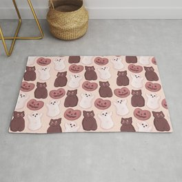 Halloween Marshmallows Soft Orange Rug