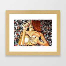 You Overdid It Doll Framed Art Print