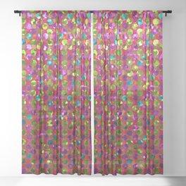 Polka Dot Sparkley Strass G266 Sheer Curtain