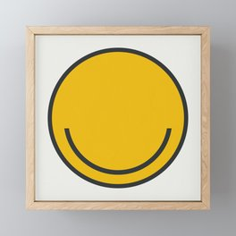 All you need is Smile! Framed Mini Art Print