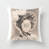 mad Throw Pillows featuring MAD by Oddworld Art