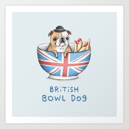 British Bowl Dog Art Print