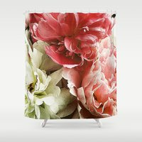 peonies Shower Curtains featuring Peonies by Elliott's Location Photography