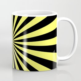 Starburst (Black & Yellow Pattern) Coffee Mug