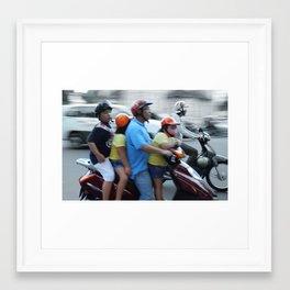 Family-trip Framed Art Print