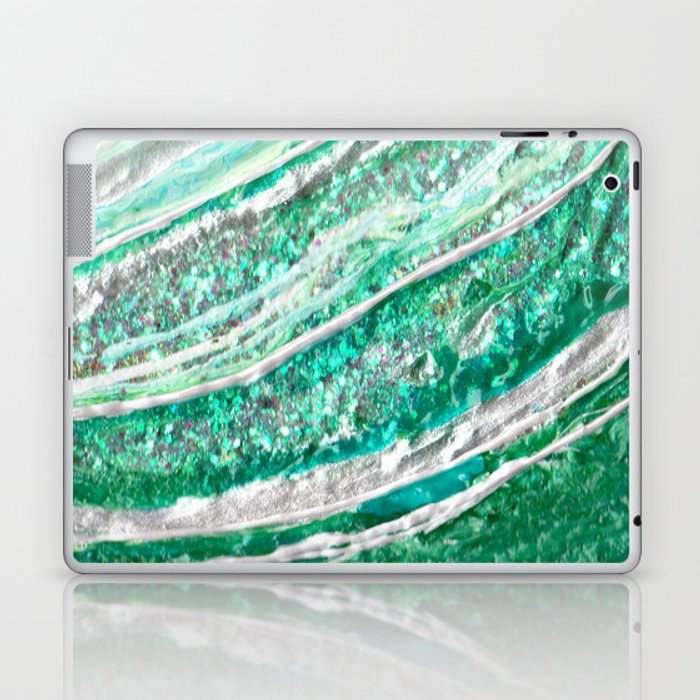 Green Crystal Ⅱ Laptop & iPad Skin