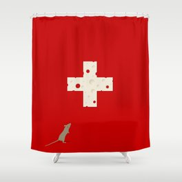 Swiss Cheese Flag Shower Curtain