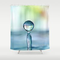 frozen Shower Curtains featuring Frozen by ThePhotoGuyDarren
