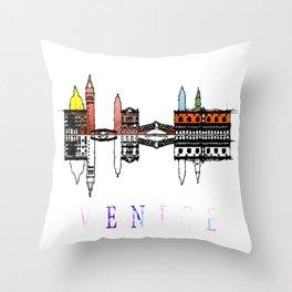 Venice skyline. Italy Throw Pillow