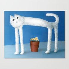 Skinny Cat Canvas Print