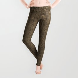 Rustic Tree Bark Pattern Leggings