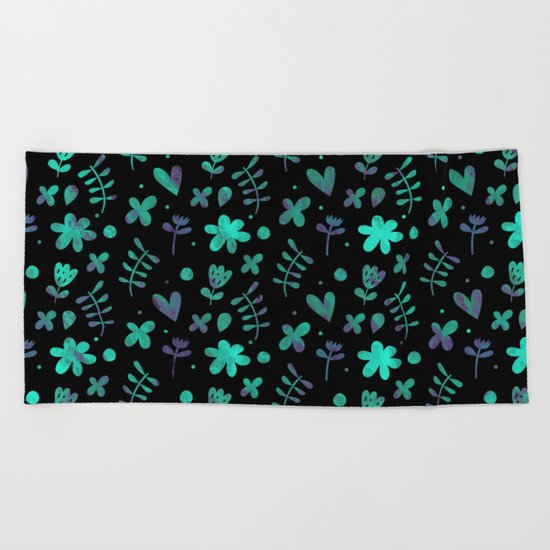 Colorful Lovely Pattern V Beach Towel