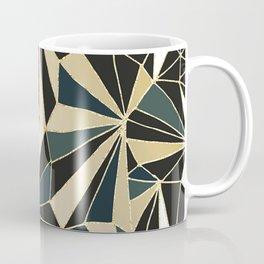 New Art Deco Geometric Pattern - Emerald green and Gold Coffee Mug